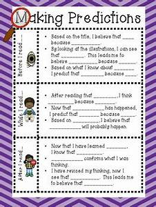 Anchor Chart To Teach Making Predictions By First In Line