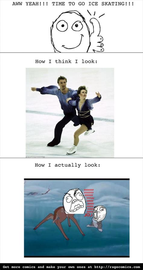 Ice Skating Memes - ice skating meme guy