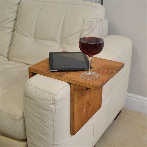 image  adjustable armrest table medium brown color