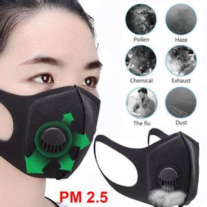 pm  anti dust face mask outdoor breathable filter valve