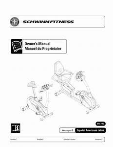 Schwinn Schwinn 240 Recumbent Bike Owner U0026 39 S Manual