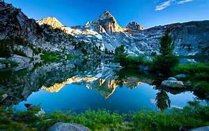 Mountain, Reflection, In, The, Lake, Hd, Desktop, Wallpaper