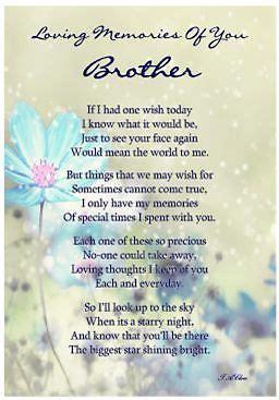 laminated memorial verse brother graveside memorial card quotes happy birthday  heaven