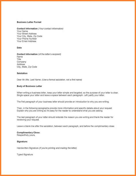 professional business letter template theveliger