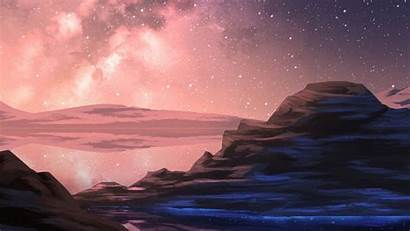 Sky Night Starry Mountain Stars Wallpapers Background