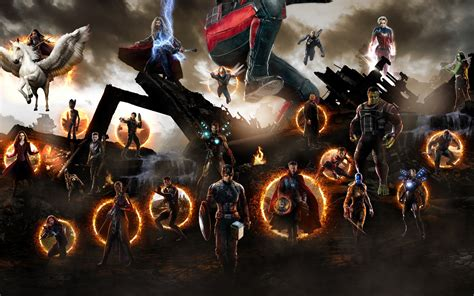wallpaper avengers endgame final battle  movies