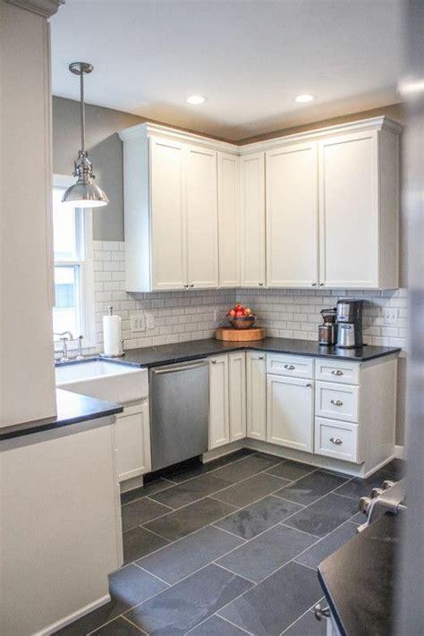 pin  white kitchen cabinets  gray wall