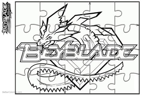 Beyblade Burst Coloring Pages Puzzle Activity