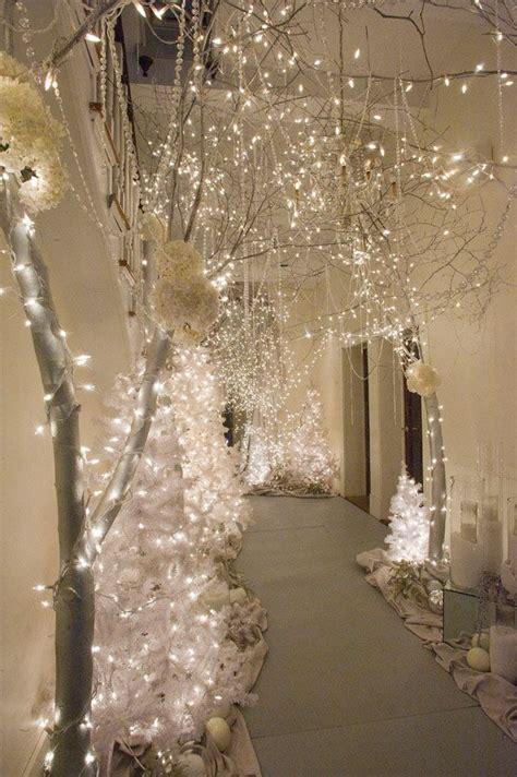 entree decoration lighting houses ideas winter