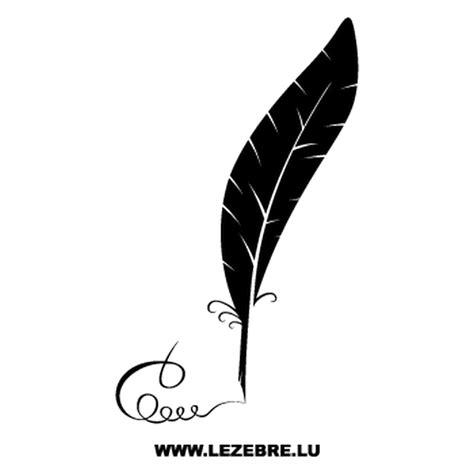 sticker plume ecriture calligraphique