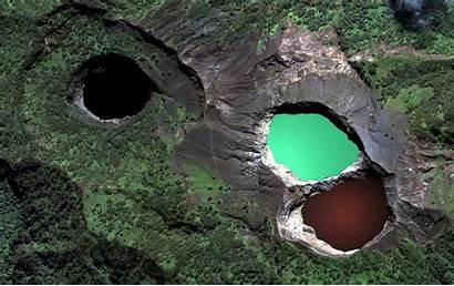 Kelimutu Lakes Colored Tri Flores Indonesia Island