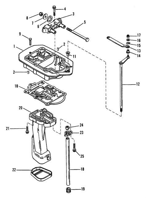 mercury marine  hp  cylinder exhaust plate parts