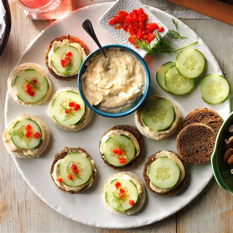 canape ideas cucumber canapes recipe taste of home