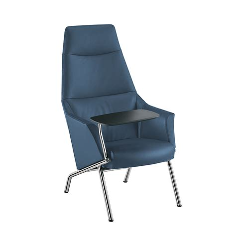 ultra contemporary high back tablet lounge chair