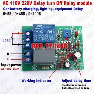 Ac 110v 220v Adjustable Delay Timing Timer Turn On  Off