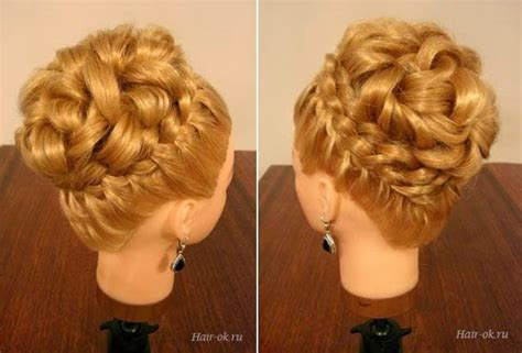 wonderful diy elegant hairstyle  braids  curls