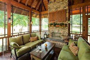 13 Outdoor And Porch Fireplaces Four Season Porch