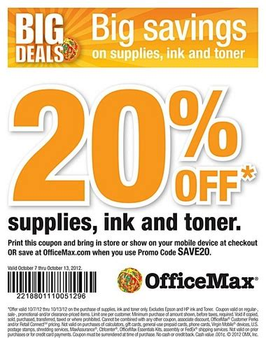 Office Depot Coupons June by Officemax 20 Ink Toners Printable Coupon Al