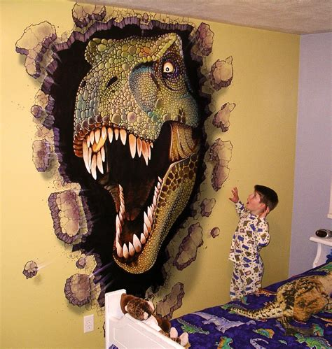 Boys Dinosaur Room Miles Woods Art Wall Murals Kid