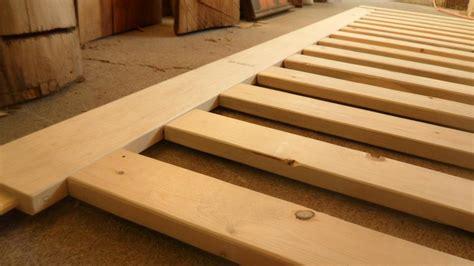 platform bed  overhang nails  screws  ray
