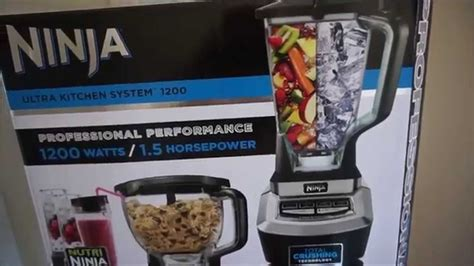 ninja ultra kitchen system 1200 unboxing and review