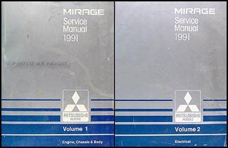 car owners manuals for sale 1991 mitsubishi mirage 1991 mitsubishi mirage repair shop manual set original