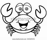 Crab Cartoon Coloring Drawing Clipart Illustration Pages Vector Draw Trap Template Sketch Drawings Getdrawings Horseshoe Xiphosura Crustacea Illustrations Imagens Molde sketch template