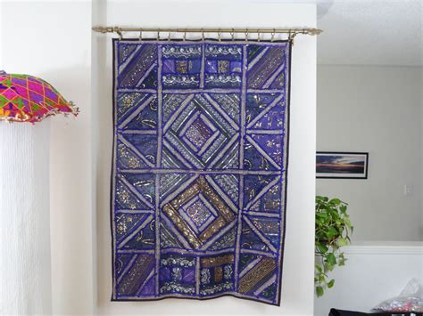 Fabric Wall Tapestry Wall Hanging Purple Strokes