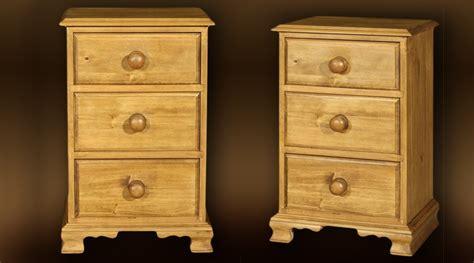Table De Nuit Rustique table de nuit style rustique 3 tiroirs