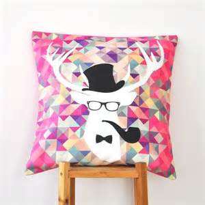 Teenage Decorative Pillows by Hipster Deer Kids Pillow Geometric Decorative Pillows