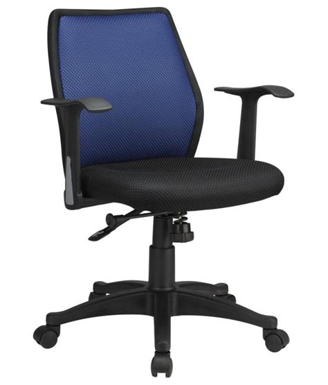 nilkamal blaze medium back chair blue buy nilkamal blaze