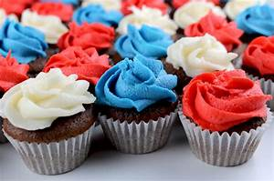 Red White and Blue Mini Cupcakes - Two Sisters