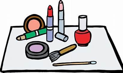 Clipart Schminke Makeup Cartoon Putting Clip