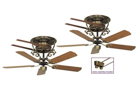belt driven ceiling fan kit bourbon ceiling fan antique brass casa bruno