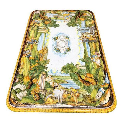 hand painted majolica earthenware table top  design