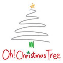 contemporary oh christmas tree christmas card by megan claire notonthehighstreet com