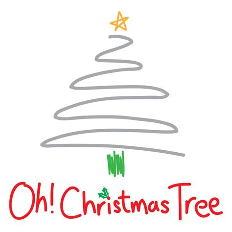 contemporary oh christmas tree christmas card by megan