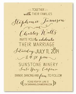 unique wedding invitations on seeded paper by With how to handwrite wedding invitations