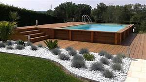 amenagement autour piscine hors sol With amenagement autour piscine bois