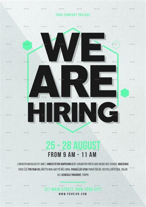 hiring poster template
