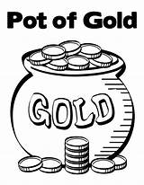 Coloring Pot Gold Coins Pages Contain Bunch Printable Getcolorings sketch template