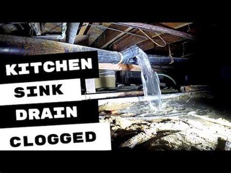 clogged kitchen sink drain line clogged kitchen sink drain line cleared of blockage