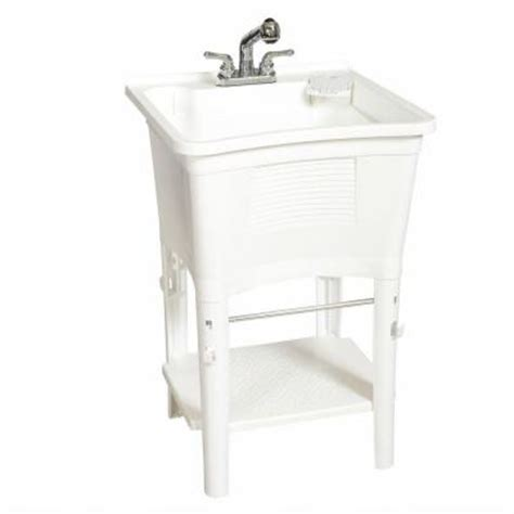 home depot utility sink kit glacier bay all in one 24 in x 24 in 20 gal heavy duty