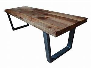 reclaimed wood coffee table tube steel legs With reclaimed wood coffee table metal legs