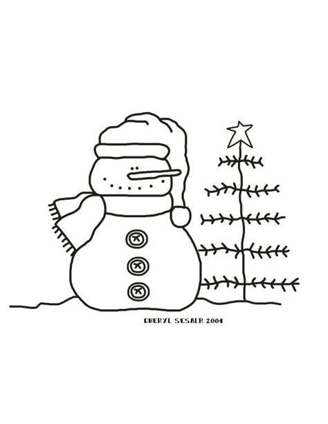 snowman tree  images snowman coloring pages