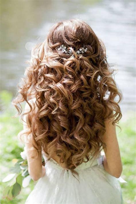 wedding hairstyles   gorgeous wavy  wedding