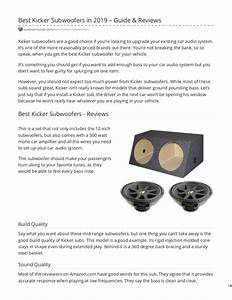 Best Kicker Subwoofers In 2019 Guide Amp Reviews