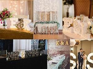 Lettre Lumineuse Deco : decoration lettre prenom mariage ~ Teatrodelosmanantiales.com Idées de Décoration