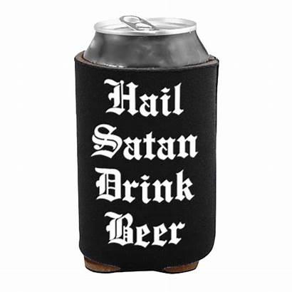 Satan Hail Drink Beer Cooler Blackcraft Cult