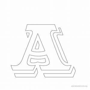 alphabet stencils a printable stencils alphabet a With vintage letter stencils